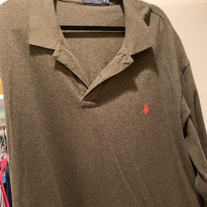 Olive Long Sleeved Polo